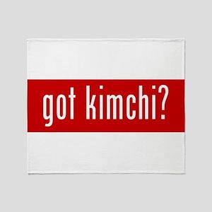 got kimchi? Throw Blanket