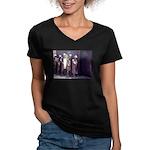 The Unemployment Line Women's V-Neck Dark T-Shirt