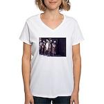 The Unemployment Line Women's V-Neck T-Shirt