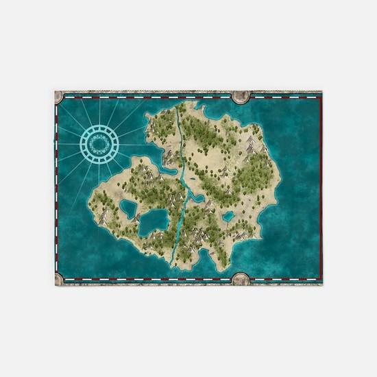 Pirate Adventure Map 5'x7'Area Rug