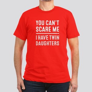 I Have Twin Daughters Men's Fitted T-Shirt (dark)