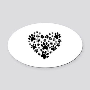 I love animals Oval Car Magnet
