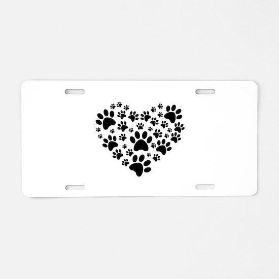 I love animals Aluminum License Plate