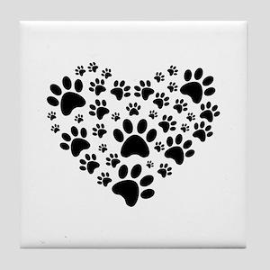 I love animals Tile Coaster