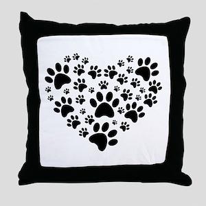 I love animals Throw Pillow