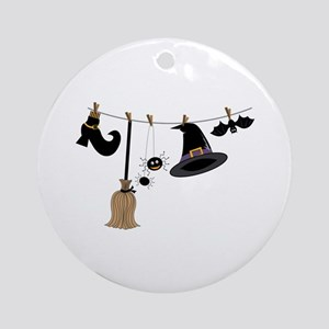 Witch Clothing Ornament (Round)