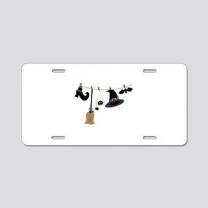 Witch Clothing Aluminum License Plate