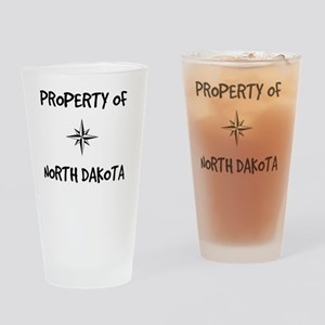 Property of North Dakota Drinking Glass