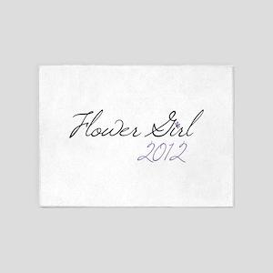 Flower Girl 2012 5'x7'Area Rug