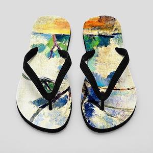Cezanne - Trees Flip Flops