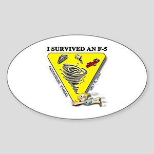 Kansas Tornado Oval Sticker