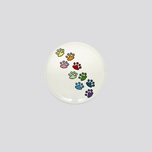Paw Prints Mini Button