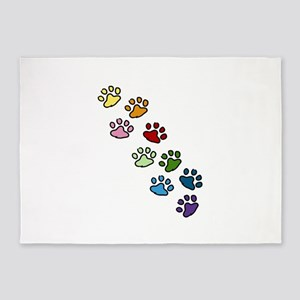 Relatively Paw Print Area Rugs - CafePress ZW89