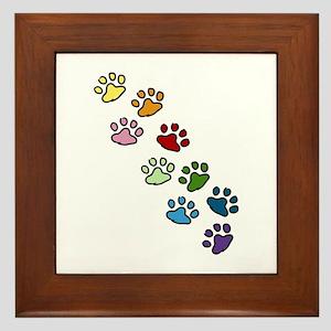 Paw Prints Framed Tile
