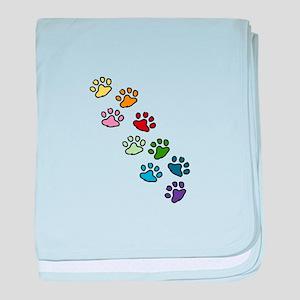 Paw Prints baby blanket
