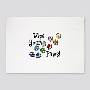 Wipe Your Paws 5'x7'Area Rug