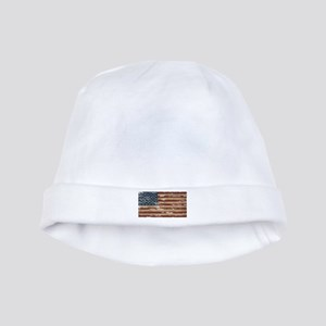 Vintage Distressed American Flag baby hat