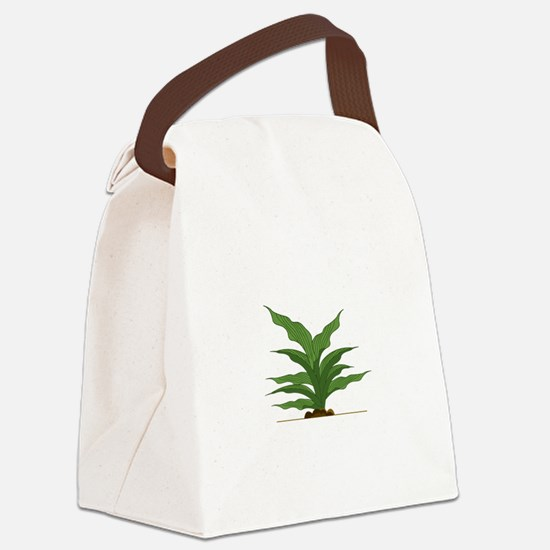 Hosta Leaves Canvas Lunch Bag