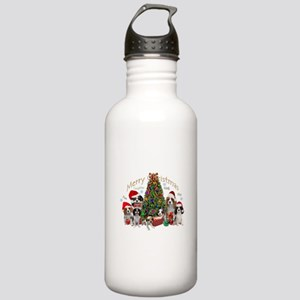 Cavalier King Charles Merry Christmas Water Bottle