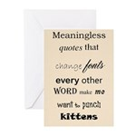 Punching Kittens Greeting Cards