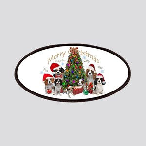 Cavalier King Charles Merry Christmas Patches