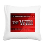 Build The Wall Square Canvas Pillow