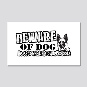 Beware of Dog Car Magnet 20 x 12