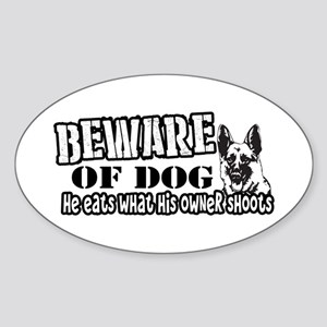 Beware of Dog Sticker