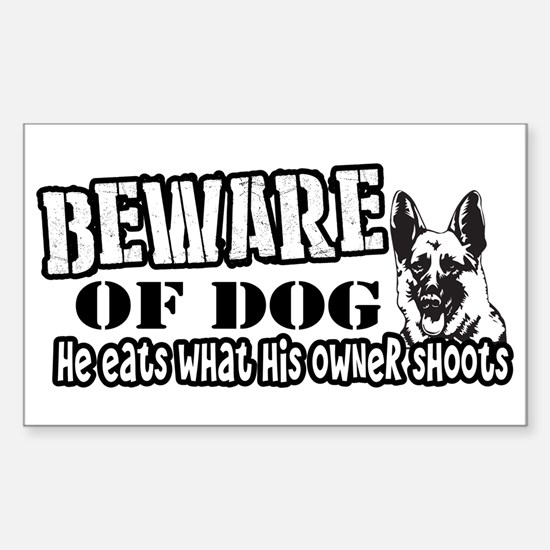 Beware of Dog Decal