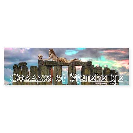 Stonehenge Goddess Bumper Sticker