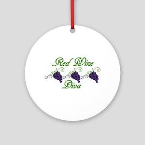 Red Wine Diva Ornament (Round)
