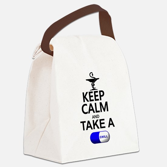 Keep Calm and Take a Chill Pill Canvas Lunch Bag