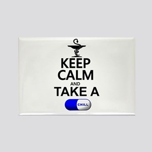 Keep Calm and Take a Chill Pill Rectangle Magnet