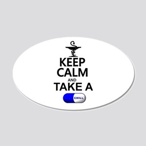 Keep Calm and Take a Chill P 20x12 Oval Wall Decal