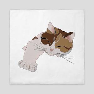Calico Cat Sleeping Queen Duvet
