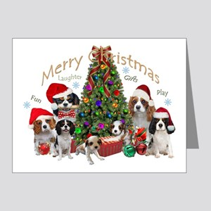 Cavalier King Charles Merry Christmas Note Cards