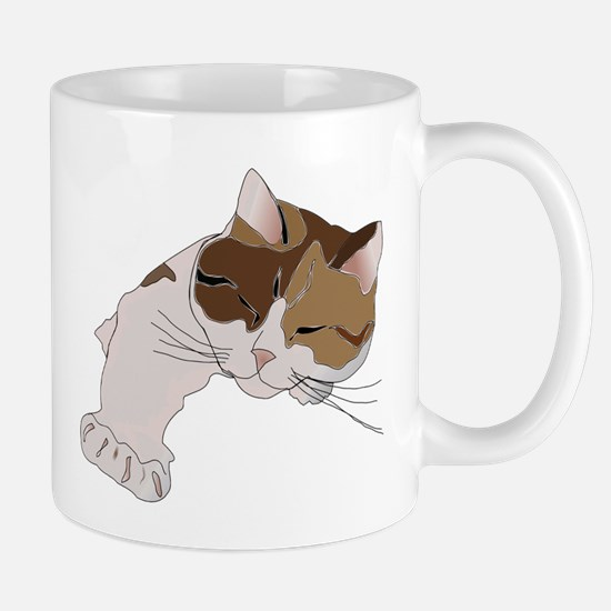 Calico Cat Sleeping Mugs
