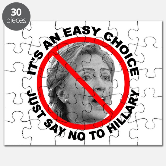 Say No to Hillary Clinton Puzzle