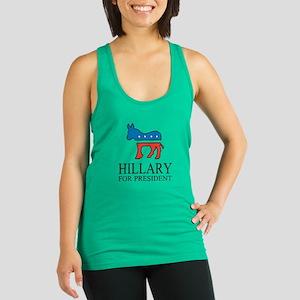 Hillary for president   Vote Democrat Racerback Ta