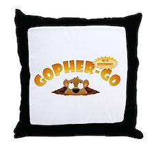 Gopher-Go Throw Pillow