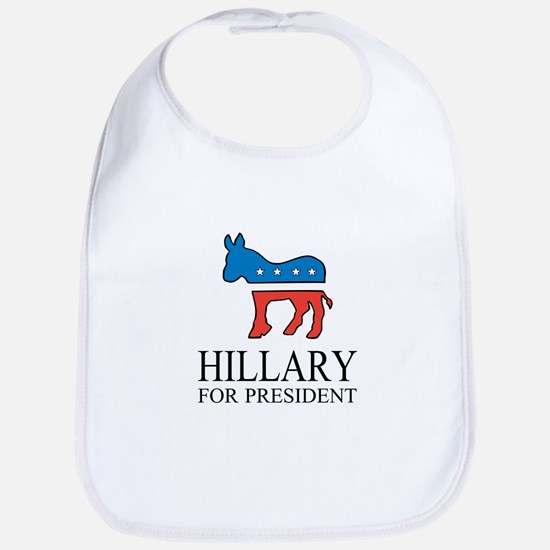 Hillary for president | Vote Democrat Bib