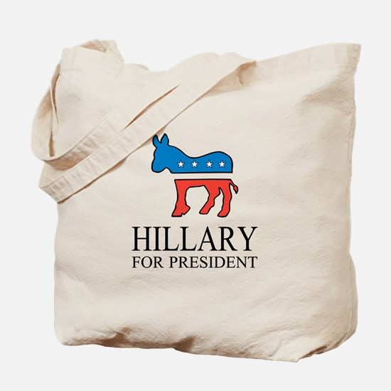 Hillary for president | Vote Democrat Tote Bag