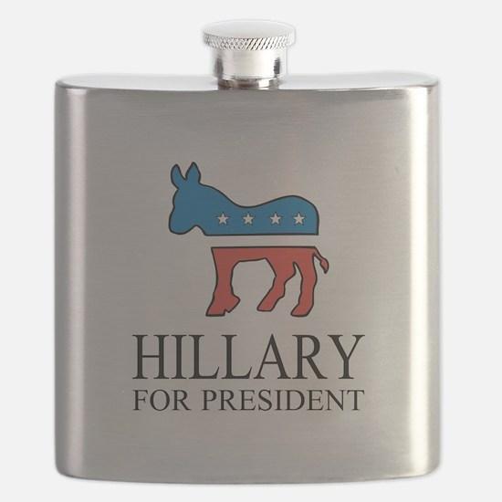 Hillary for president | Vote Democrat Flask