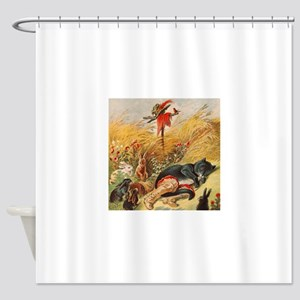 Puss in Boots Child Story Shower Curtain