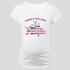 Made in the USA Tribal Hogfish Maternity T-Shirt