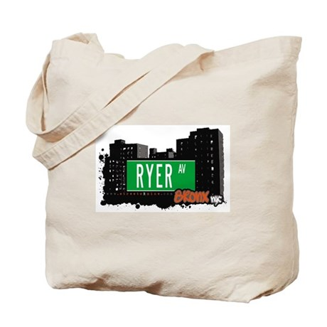 Ryer Av, Bronx, NYC Tote Bag