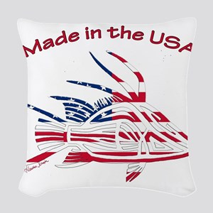 Made in the USA Tribal Hogfish Woven Throw Pillow