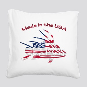Made in the USA Tribal Hogfis Square Canvas Pillow
