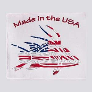 Made in the USA Tribal Hogfish Throw Blanket