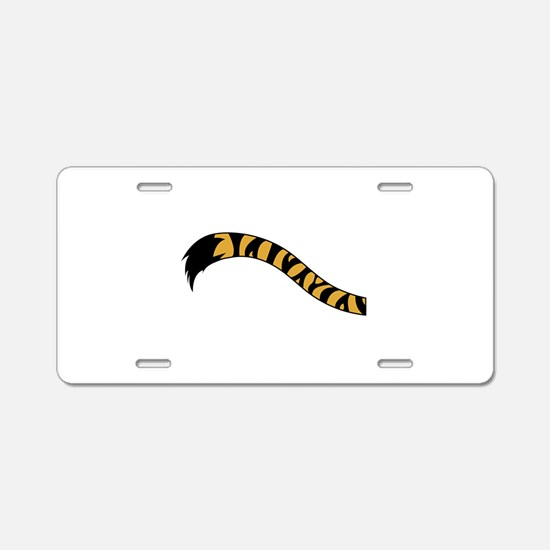 Tiger Tail Aluminum License Plate